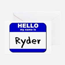 hello my name is ryder  Greeting Cards (Package of