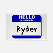 hello my name is ryder Rectangle Magnet