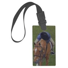 Young Rider and Pony Luggage Tag