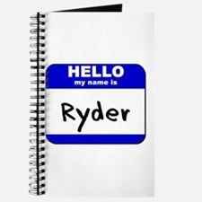 hello my name is ryder Journal