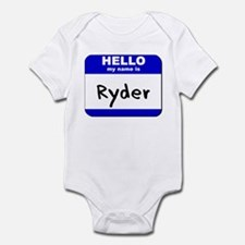 hello my name is ryder  Infant Bodysuit