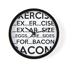 Exercise Bacon Wall Clock