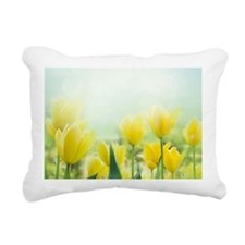 Spring Tulips Rectangular Canvas Pillow