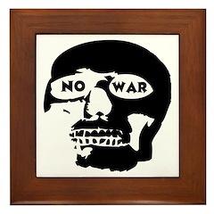 No War Framed Tile