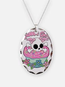 Sweet Girl Skull Necklace