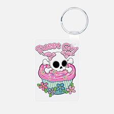 Sweet Girl Skull Keychains