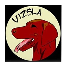 Vizsla Profile Tile Coaster
