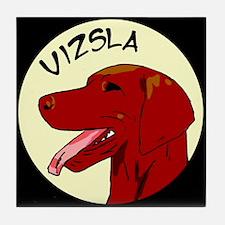 Vizsla Profile Tile Coaster