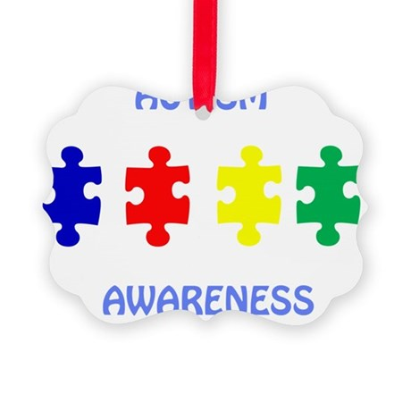 Autism Awareness Picture Ornament