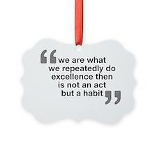 Quote - Aristotle Ornament