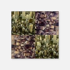 """Photo Collage Aerial Manhat Square Sticker 3"""" x 3"""""""