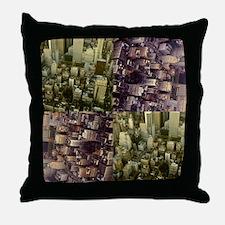 Photo Collage Aerial Manhattan Throw Pillow