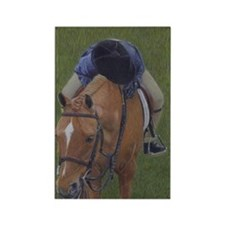 Young Rider and Pony Rectangle Magnet