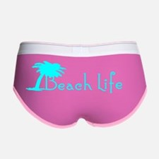 Beach Life (Turquoise) Women's Boy Brief