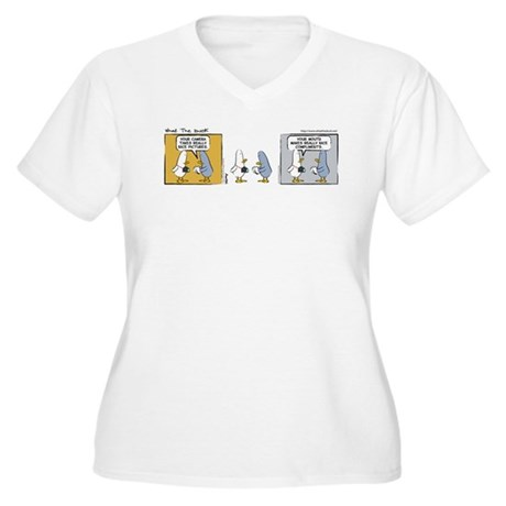 "WTD: ""Mind Over Matter"" Women's Plus Size V-Neck T"