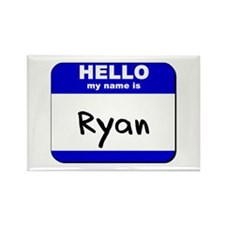 hello my name is ryan Rectangle Magnet