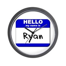 hello my name is ryan  Wall Clock