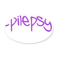 Epilepsy Sucks Oval Car Magnet