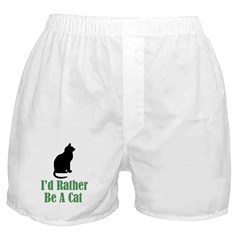 Rather Be a Cat Boxer Shorts