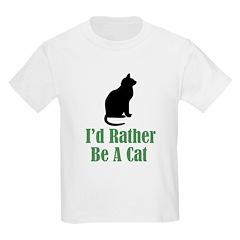 Rather Be a Cat Kids T-Shirt