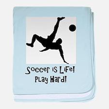 Soccer is Life baby blanket