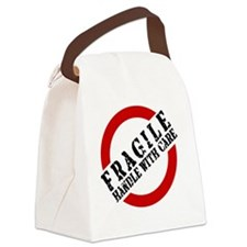 FRAGILE HANDLE WITH CARE Canvas Lunch Bag