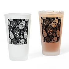 White Sugar Skulls Drinking Glass