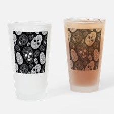 White Sugar Skulls Drinking Glass