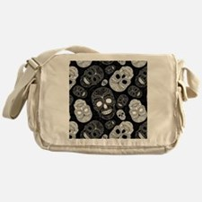 White Sugar Skulls Messenger Bag