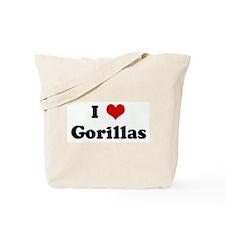 I Love Gorillas Tote Bag