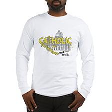 Catholic and Christian (Gold) Long Sleeve T-Shirt