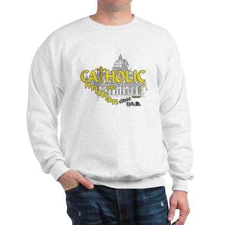 Catholic and Christian (Gold) Sweatshirt