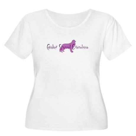 Cavalier Grandma Women's Plus Size Scoop Neck T-Sh