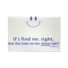 Mrs Always Right Rectangle Magnet