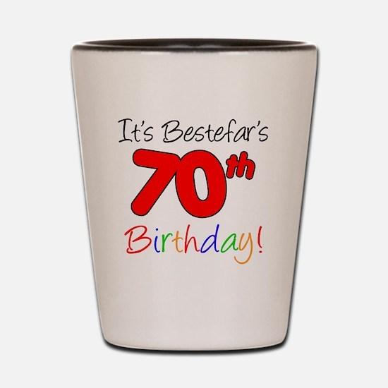 Bestefars 70th Birthday Shot Glass