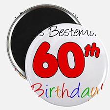 Bestemors 60th Birthday Magnet