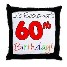 Bestemors 60th Birthday Throw Pillow
