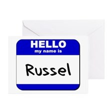 hello my name is russel  Greeting Cards (Package o