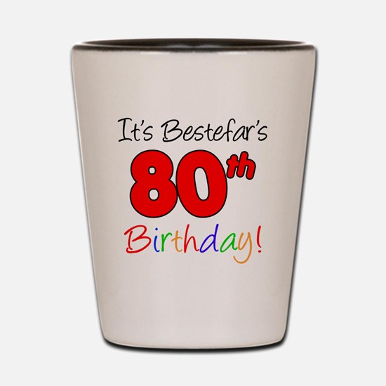 Bestefars 80th Birthday Shot Glass