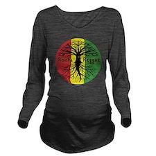 Roots Reggae Designs Long Sleeve Maternity T-Shirt