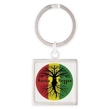 Roots Reggae Designs-3 Square Keychain