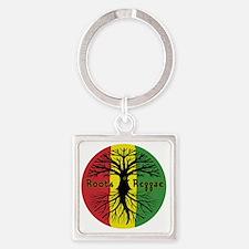 Roots Reggae Designs-3 Square Keychain