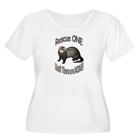 Rescue Ferret Women's Plus Size Scoop Neck T-Shirt