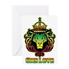 One Love Lion Greeting Card