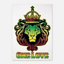 One Love Lion 5'x7'Area Rug