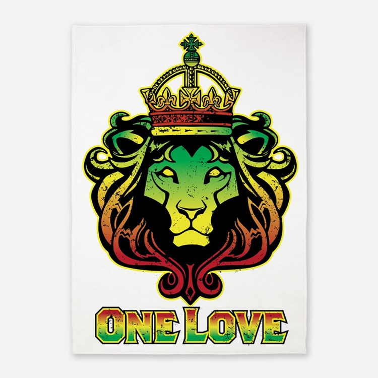 One Love Lion 5'x7'Area Rug