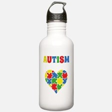 autismAwarenHeartAware Water Bottle