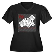 Wine Women's Plus Size Dark V-Neck T-Shirt