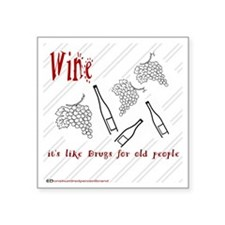 "Wine Square Sticker 3"" x 3"""
