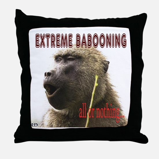 Extreme Babooning Throw Pillow